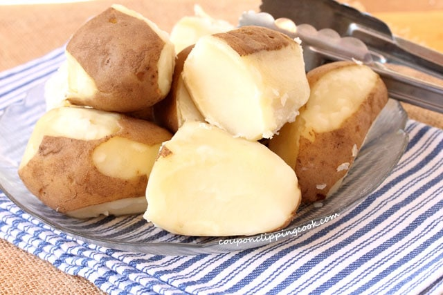 Boiled Potatoes on Plate