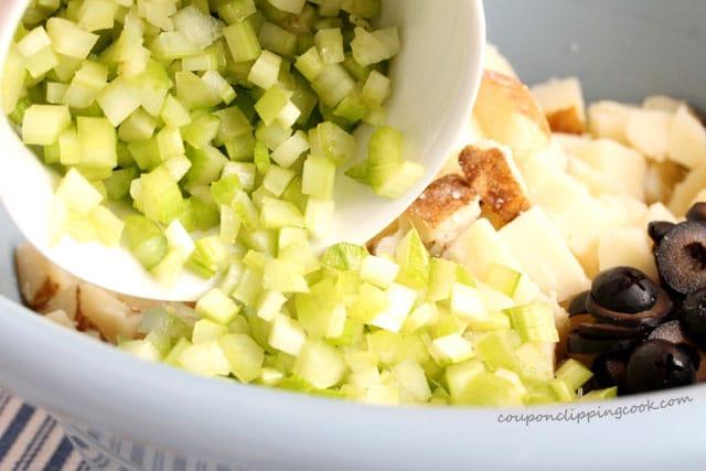 Add chopped celery in bowl