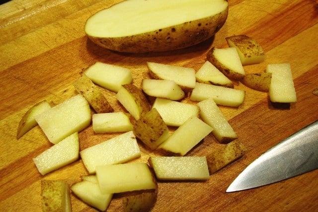 Cut Russet Potato