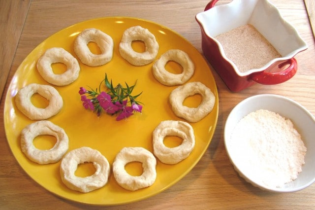 Biscuit Dough in Rings