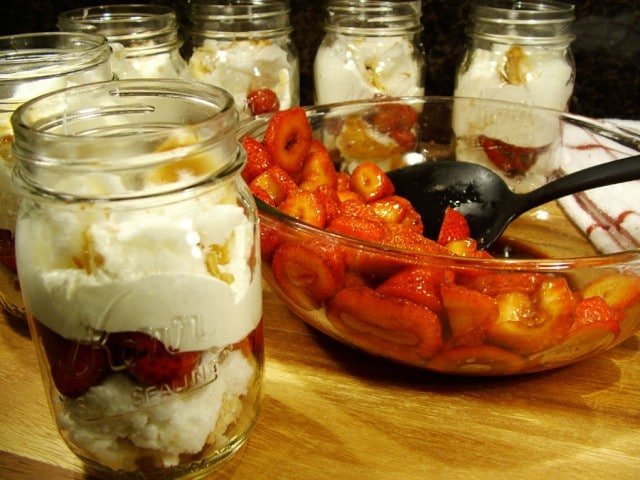 Strawberry Shortcake in Jars