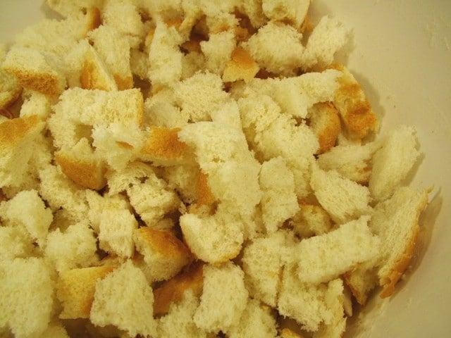Bread Pieces in Bowl
