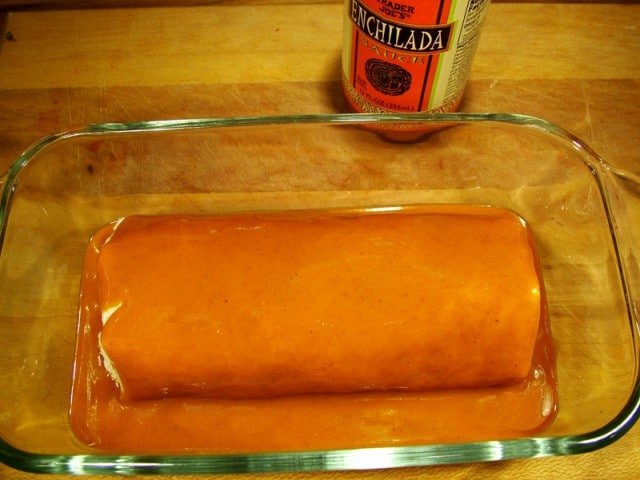 Enchilada Sauce in Casserole Dish