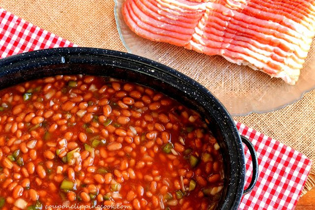 Baked beans with Bacon Strips