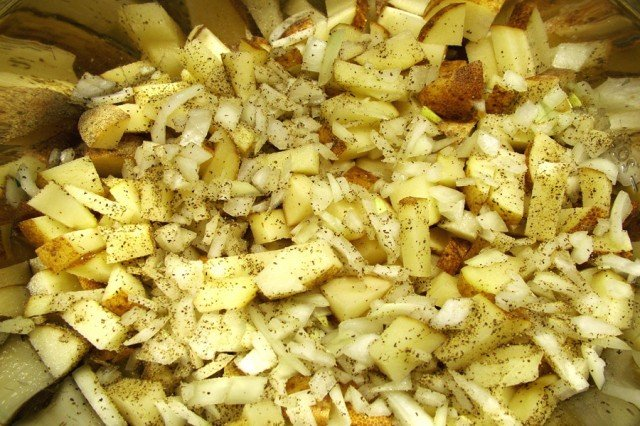 Chopped Onion and Potato