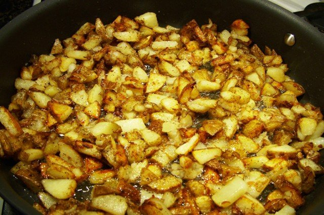 Fried Potatoes in Pan