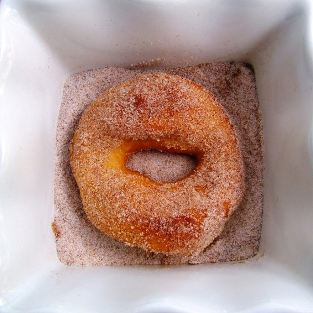Cinnamon and Sugar on Doughnuts