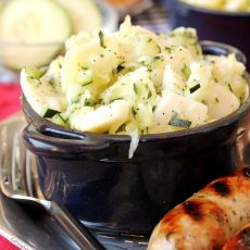German Potato Salad in bowl