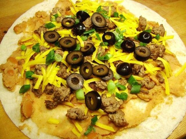 Black Olives in Burrito