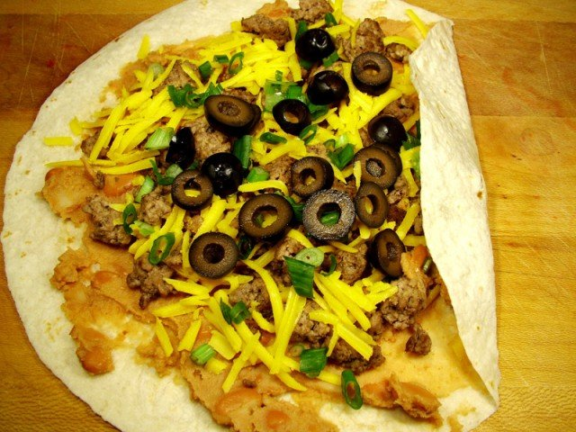 Fold Tortilla for Burrito