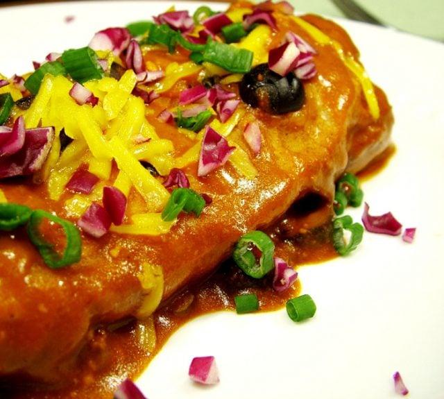 Burrito Enchilada on Plate