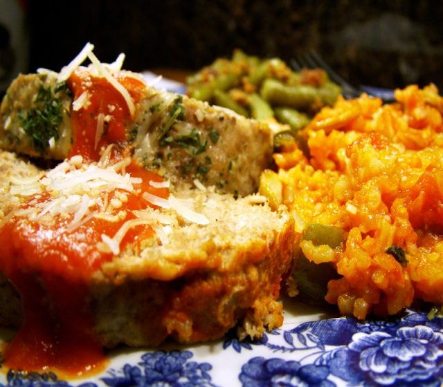 Meatloaf and Rice with Vegetables