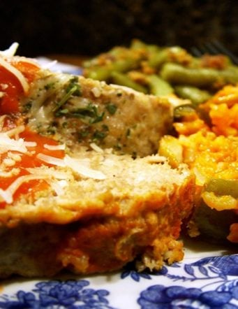 Meatloaf with Tomato and Vegetable Rice