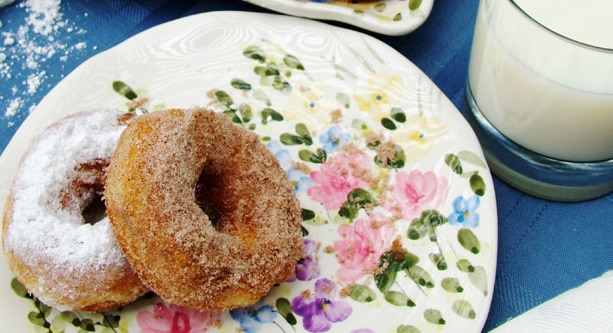 Quick and Easy Doughnuts on Plate