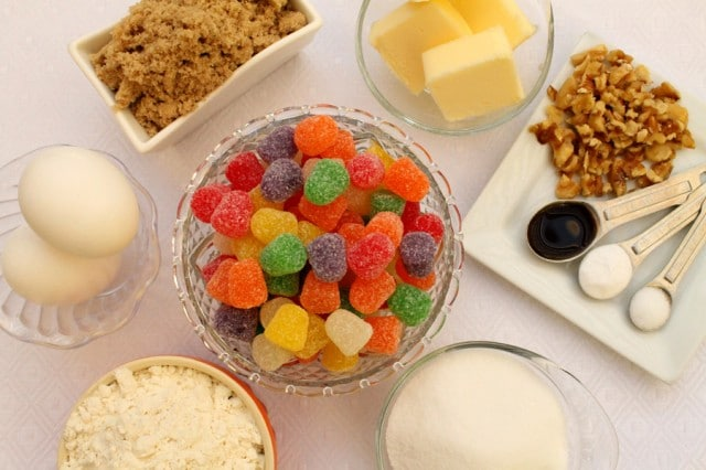 Gumdrop Cookie Ingredients