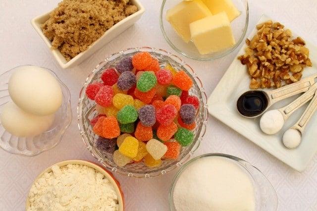 Gumdrop Cookie Ingredients