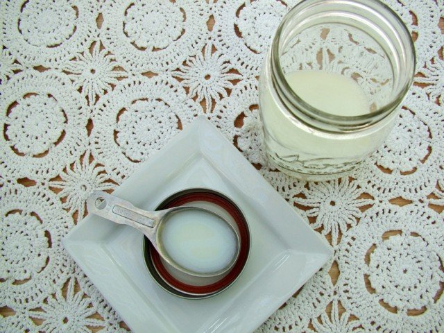 Milk and Vinegar in Jar