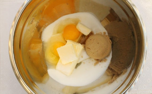 Sugar and Egg in Bowl