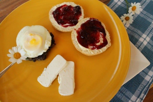 Raspberry Jam on Biscuits