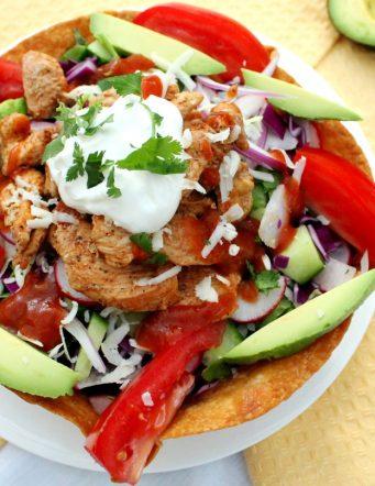 Crispy Tortilla Bowl Taco Salad