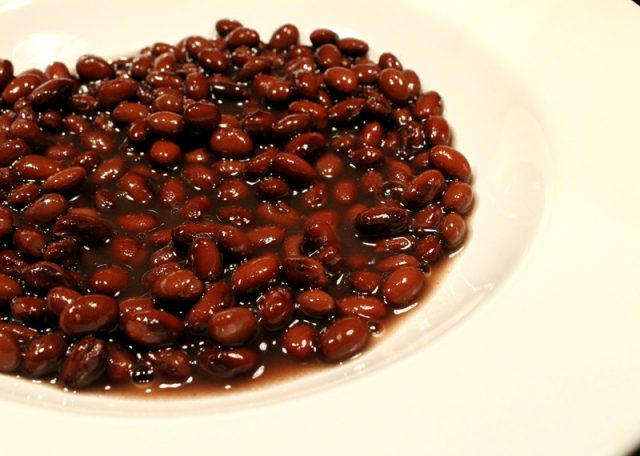 Black Beans in Dish