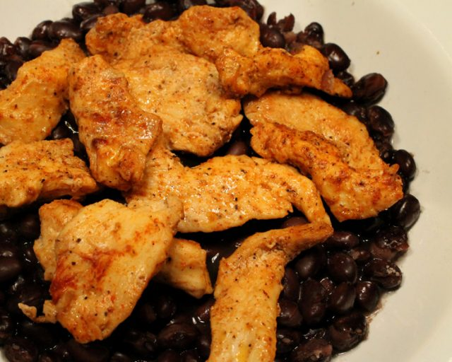 Spicy Chicken on Black Beans