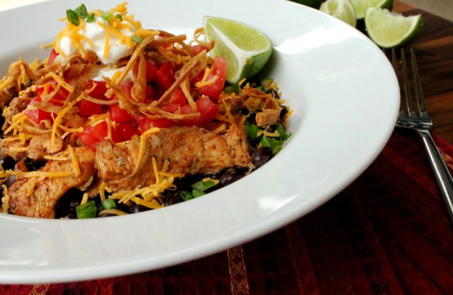 Spicy Chicken with Lime in bowl