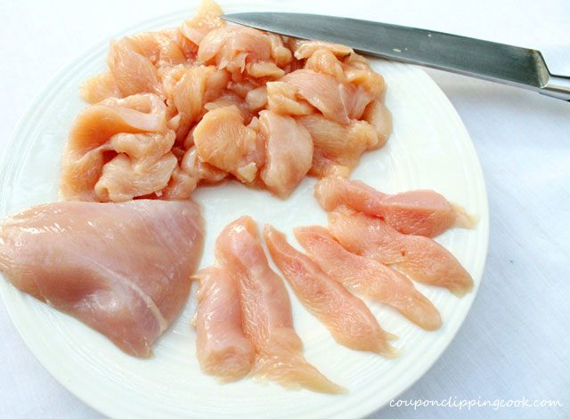 Cut Chicken in Strips