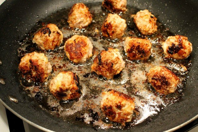 Cook Meatballs in Pan