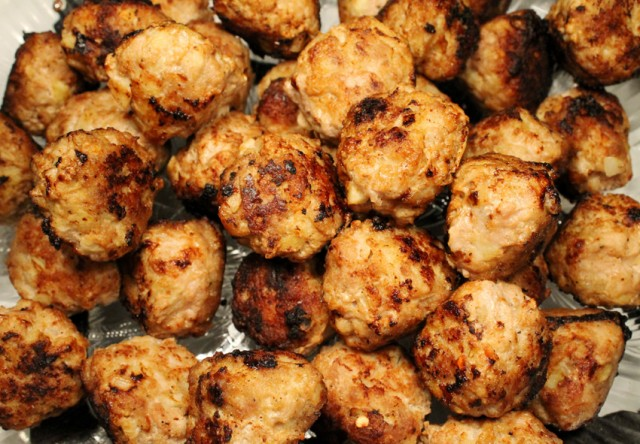 Cooked Meatballs on Plate