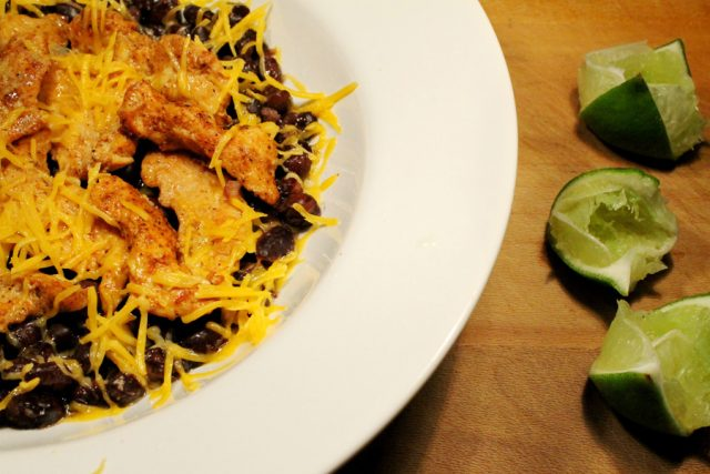 Limes and Spicy Chicken in bowl