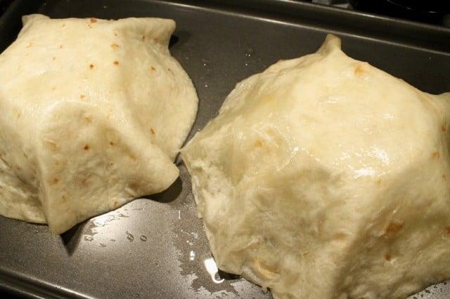 Flour Tortillas on Bowls