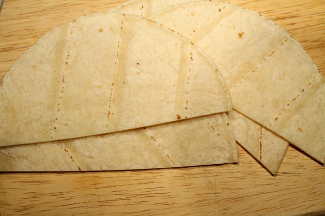 Corn Tortillas on Cutting Board