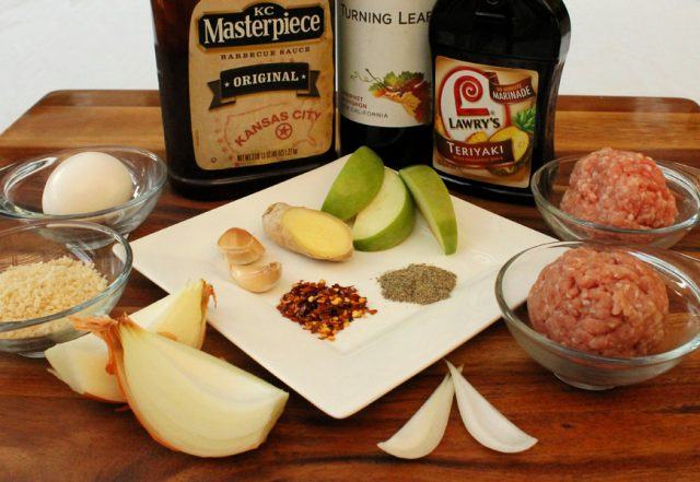 Meatballs with Apple Ingredients