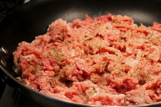 Ground Meat in Skillet