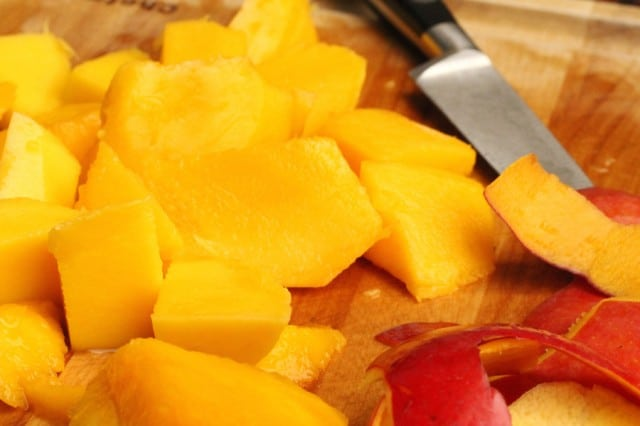 Cut Mango Fruit