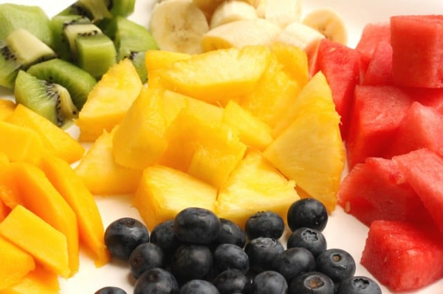 Cut Fruit on Plate