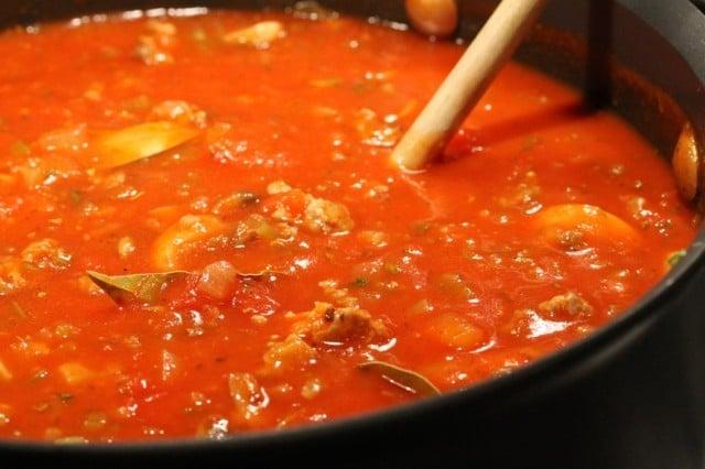 Spaghetti Sauce in Pot