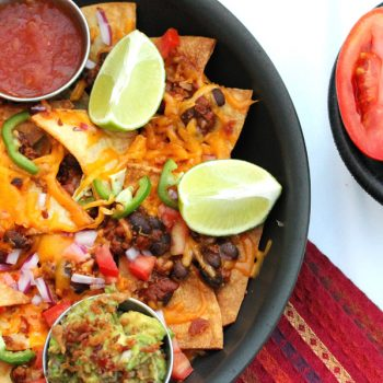 Chili Bacon Nachos in Pan