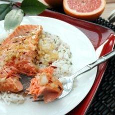 Grapefruit Marinated Salmon