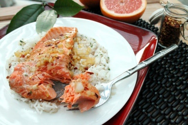 Grapefruit Marinated Salmon