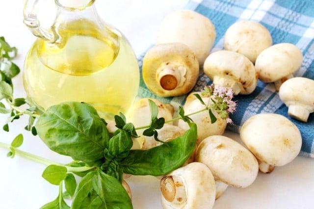 Mushrooms Olive Oil Herbs