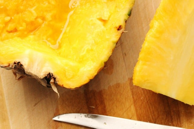 Hollow Out Halved Pineapple