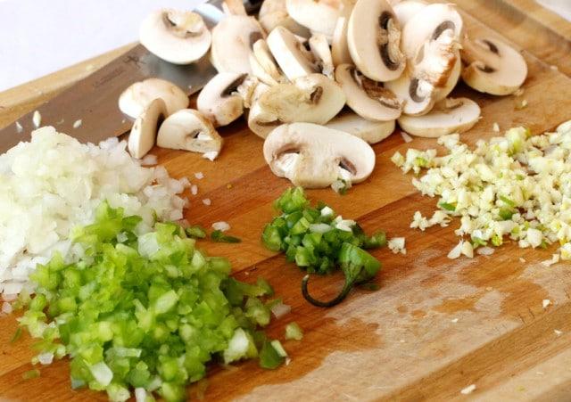 Mushrooms Onion Jalapeno