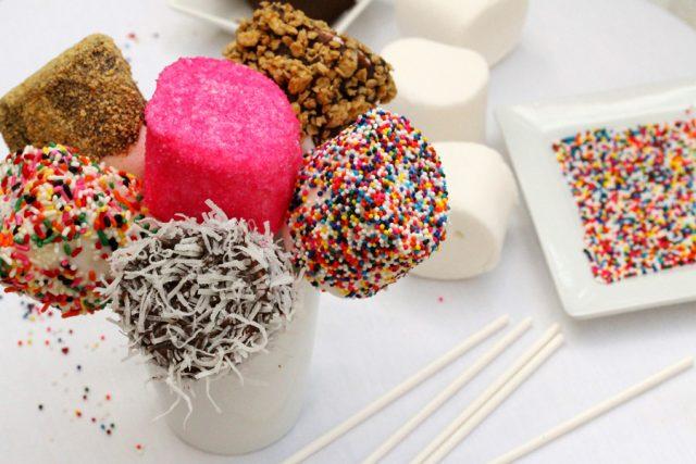 Marshmallow Fun Pops on plate