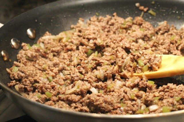 Cooking Ground Beef in Pan