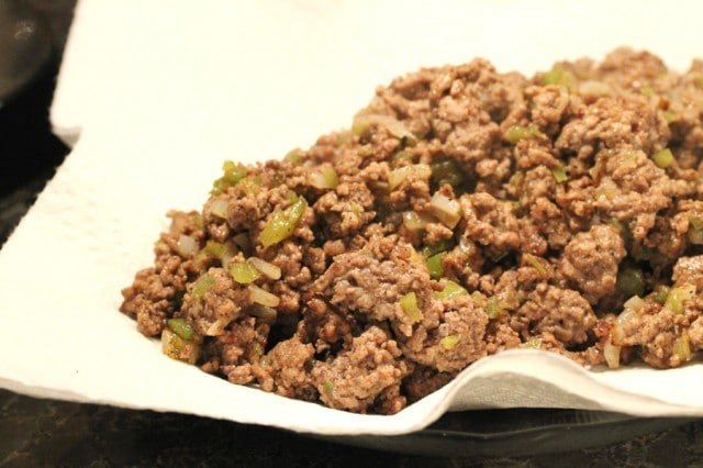 Ground Beef on Paper Towel