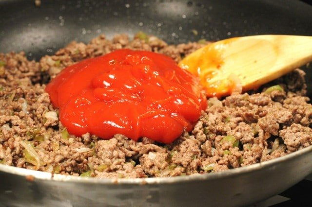 Ketchup in Ground Beef