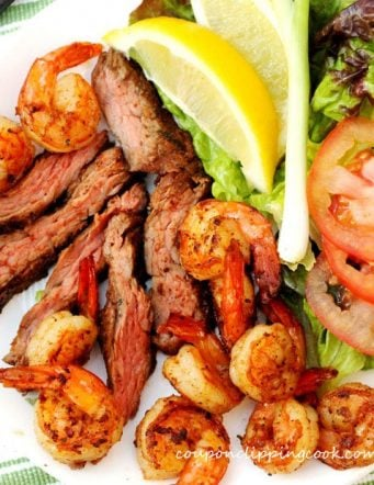 Grilled Flap Steak and Shrimp Citrus Surf and Turf