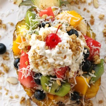 Fruit Salad with Cottage Cheese